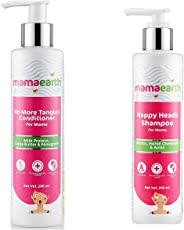 Mamaearth Natural Shampoo & Conditioners with Biotin, Protien, Bhringraj, Amla for Hair fall and Shiny Hair, Sulphate and SLES Free