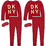 DKNY Girl's 4-Piece Pajama Set – Comfortable Snug Fit Design