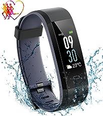 Fitness Tracker Impermeabile IP68, Aitop Orologio Fitness Schermo a Colori Cardiofrequenzimetro Contapassi Braccialetto Bracciale Fitness Watch Nuoto Luminosità a 5 Livelli, 14 Modalità di Allenamento