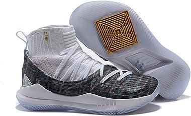 UnderArmour UA Curry 5 White Grey Men's Basketball Shoes
