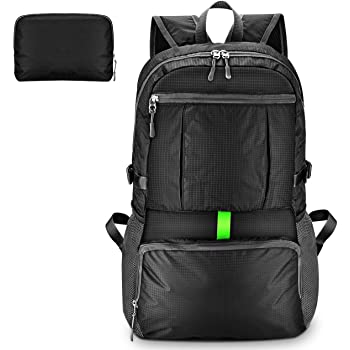 OMORC Lightweight Backpacks,30L Packable Plain Black Small Hiking rucksack,  Waterproof Backpack For Sports   Outdoor Travel e45a9c27e5