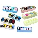 FLIPZON 8 Piece Multipurpose Storage Drawer Socks Undergarments Organizer, Plastic, Multicolor