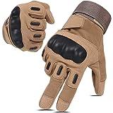 Hikeman tactische softair militaire handschoenen voor mannen en vrouwen, geschikt voor touchscreen, harde knokkelhandschoenen