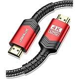 Cable HDMI 4K JSAUX Cable HDMI 2M Ultralíptico de Alta Velocidad de 18 Gbps Soporte 3D, Video 4K@60Hz, UHD 2160P, HD1080P, Et