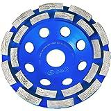 S&R Diamantkopphjul 125 x 22,23 mm, Diamant Slipning Kopphjul för betong, granit, natursten, sten, murverk, 2-rad diamantslip