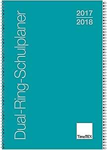 t/ürkis Lehrerkalender 10550 TimeTex Dual-Ring-Schulplaner A4 Schuljahr 2019-2020 Lehrertimer