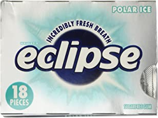 Wrigley's Eclipse Polar Ice Sugar Free Gum - 12 Packs of 18 Pieces