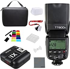 Fomito Godox Thinklite TT600S 2.4G Wireless GN60 Master Slave Camera Flash Speedlite with Godox X1T-S Remote Trigger Transmitter for Sony A7 A7R A7S A7II A7RII A58 A99 A6000 Camera