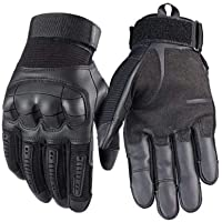 ZGHYBD Tactical Gloves-Indestructible, Warm, Waterproof, Full Finger Finger Hard Knuckle Gloves for Hunting, Shooting…