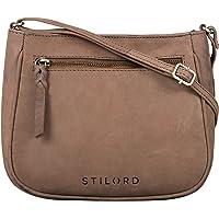 STILORD 'Samira' Handtasche Leder Frauen zum Umhängen Vintage Umhängetasche für Damen-Tasche Abendtasche Elegante…