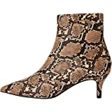Marchio Amazon - find. - Kitten Heel Point Toe Animal, stivaletti Donna