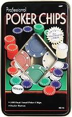 Webby Poker Chips Casino Game (Set of 100)