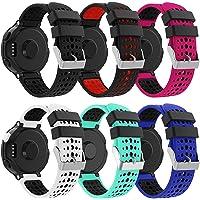Syxinn Compatible avec Forerunner 235 Bracelet de Montre, Bracelet de Remplacement Bande en Silicone Souple Sport Strap…