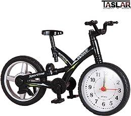Taslar Mini Motorcycle/Bicycle Model Alarm Clock Desk & Shelf Modern Home Office Decoration Tabletop Display (Black)