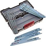 Bosch 2607010901 Set de 15 Lames de scie sauteuse wood and metal basic s 918 AF (5x)/ S 918 BF (5x)/ S 617 K (5x)