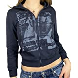 Women's Y2K Vintage Graphic Zip Up Hoodie Face Portrait Aesthetic Pullover Sweatshirt E-Girl 90s Streetwear Jacket