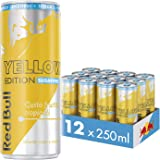 Red Bull Energy Drink Senza Zuccheri Gusto Frutti Tropicali, 12 lattine da 250 ml