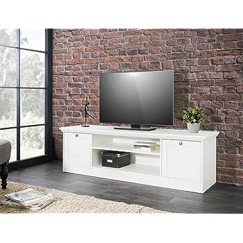 expendio Lowboard Landström 17 weiß 160x48x45 cm TV-Board TV-Schrank ...