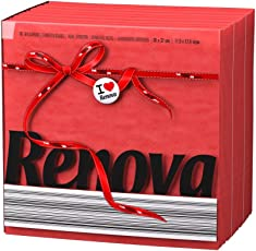 Renova Paper Extra Soft and Absorbent Napkins (Red)