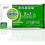 مناديل ديتول الأصلي المضادة للبكتيريا للبشرة، 40 منديلًا