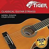 TIGER Jeu de cordes pour guitare classique – Tension normale Cordes en nylon – antirouille