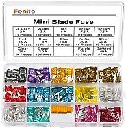 FEPITO Standard Car Fuses Assortment Blade Fuse 2A 3A 5A 7.5A 10A 15A 20A 25A 30A 35A 40A for Auto Car Truck Mini Blade Fuse