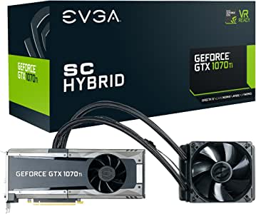 EVGA GeForce GTX 1070 Ti SC HYBRID Gaming, 8GB GDDR5, LED, All-In-One Watercooling with 10CM Fan, DX12 OSD Support (PXOC) Graphics Card 08G-P4-5678-KR