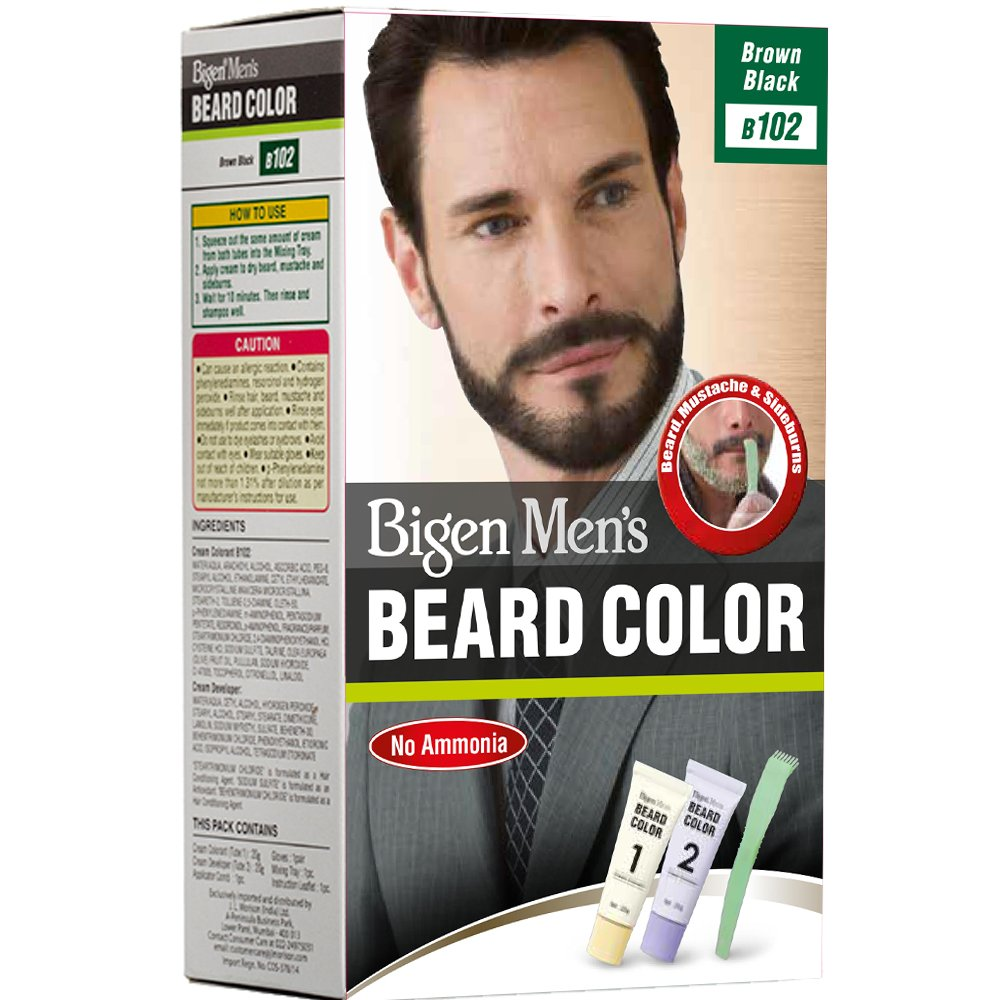 Bigen Men\'s Beard Color, Brownish Black B102(20g+20g): Amazon.in ...