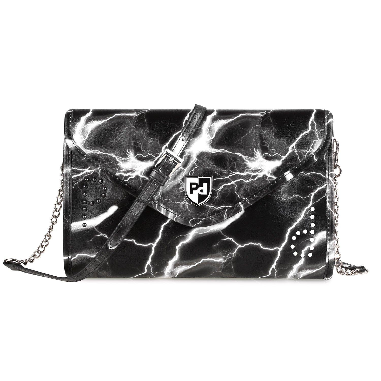 Prasacco damas cruz cuerpo de la bolsa envuelven para mujeres PU bolso de cuero bolso de moda bolso de mano con correa ajustable
