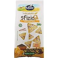 Matt SfizioSì Riso Nero Integrale, Mais Bio Croccanti Snack Salati Non Fritti - 60 g