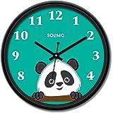 Amazon Brand - Solimo 12-inch Wall Clock - Piggy Panda (Silent Movement)