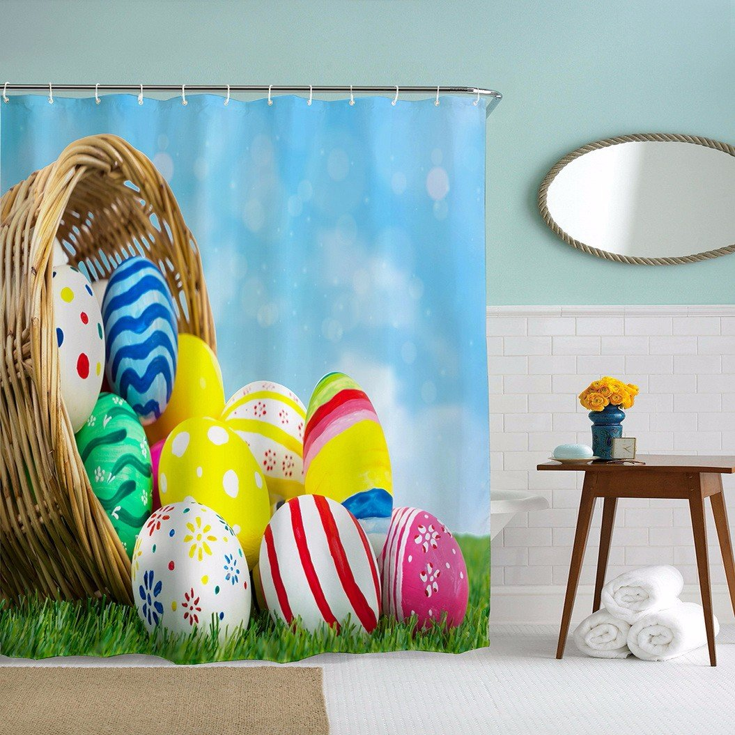 Colorful Easter Eggs Shower Curtains Selection