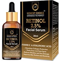 HONEST CHOICE Retinol Face Serum Blended With Vitamin C And Vitamin E, Glycol Acid | Anti Aging | Sun Protection | Skin…