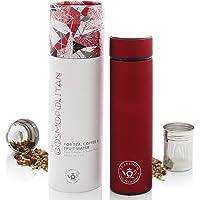 Teabloom Borraccia Termica Multiuso - 480 ml/Bottiglia per Acqua in Metallo Spazzolato - Thermos per Tè - Bottiglia da…