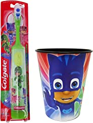 PJ Masks Gekko Toothbrush Dental Kit: 2 Items - Powered Toothbrush, Kid's Character Rinse Cup
