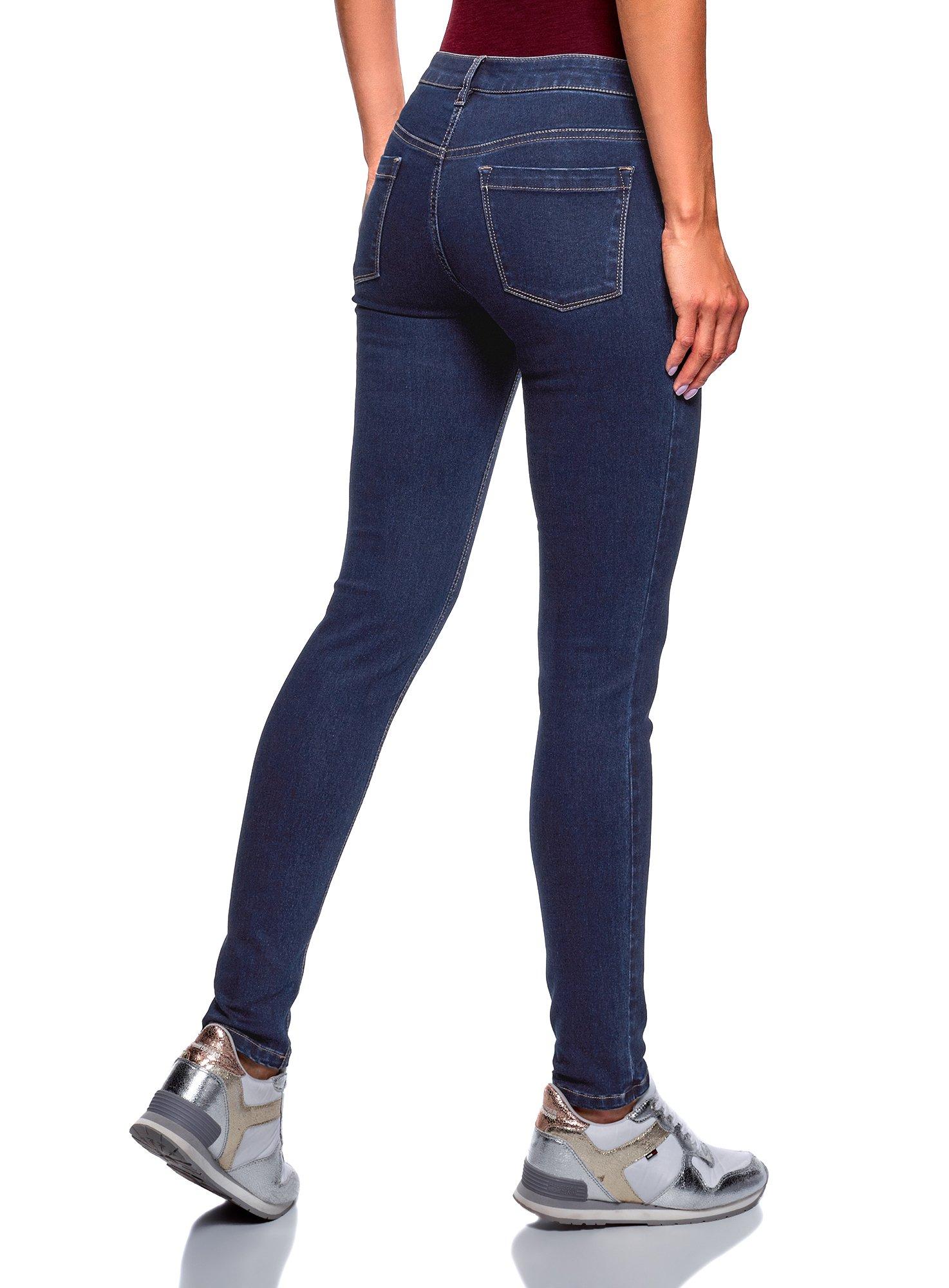 oodji Ultra Mujer Vaqueros Básicos Skinny