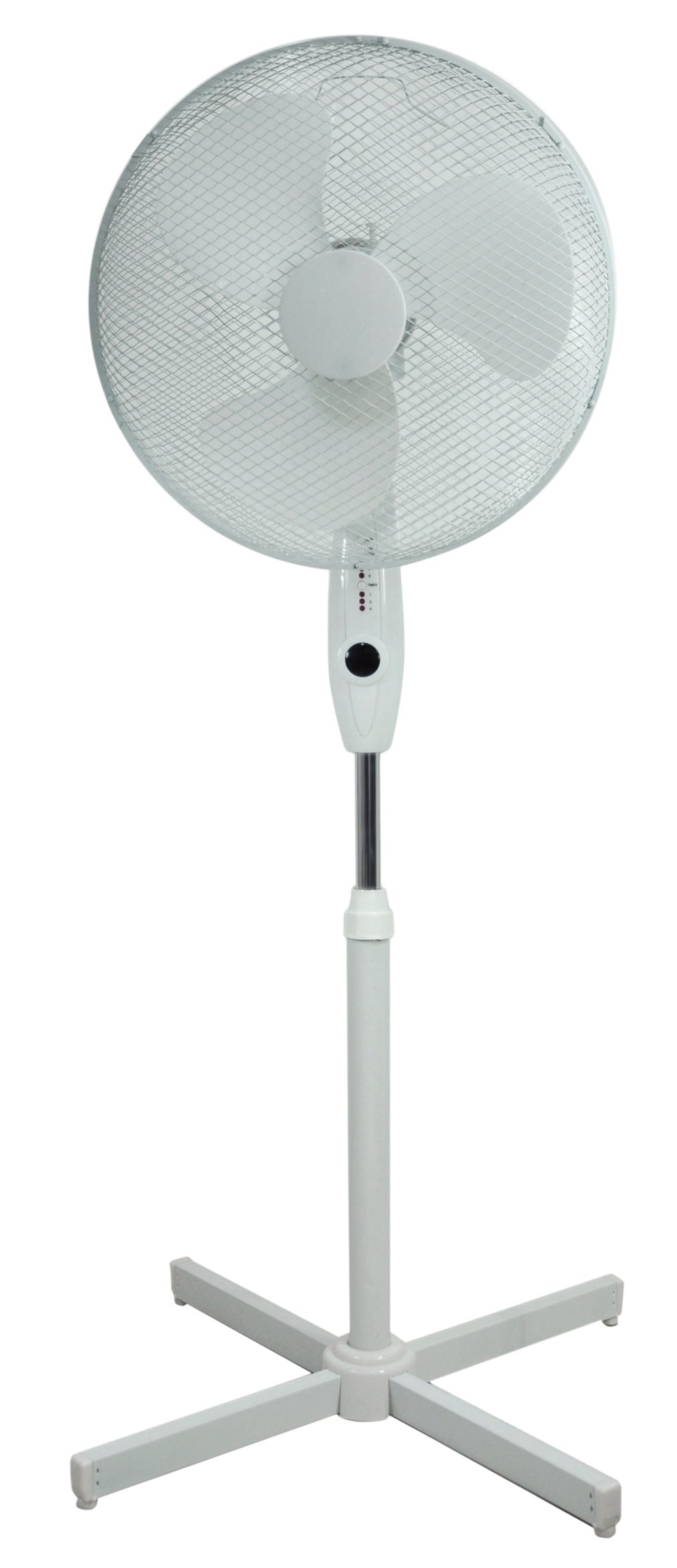 Prem-i-air 16″ Pedestal Fan Oscillating 3 Speeds + Remote Control (Black)