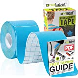 NO LABEL Pre Cut Kinesiology Tape - Pre-Cut Sport Tape Strapping Muscle Tape Sports Tape | Pro 5m Medical Roll H20 20 x Precu