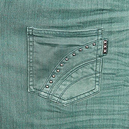 Apple iPhone 5 Housse Étui Protection Coque Aspect jeans Pantalon Fashion Étui en cuir marron