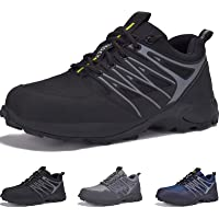 JACKSHIBO Mens Walking Boots Breathable Lightweight Walking Shoes Mens Hiking Shoes Non-Slip Outdoor Trekking Hiking…