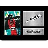HWC Trading Michael Schumacher A4 Sin Marco Regalo De Visualización De Fotos De Impresión De Imagen Impresa Autógrafo Firmado