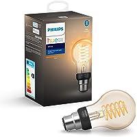 Philips Hue Ampoule LED Connectée White Filament B22 Forme Standard Compatible Bluetooth, Fonctionne avec Alexa
