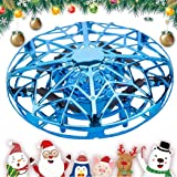 AMERTEER Mini Drone for Kids Adults, Flying Ball Hand Controlled Quadcopter Light Up Flying Toys, UFO Flying Ball Drone Toys