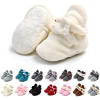 Stivali Invernali per Neonato Unisex Fondo Morbido Antiscivolo Stivali da Neve Bambino Cotone Piatto Pelliccia Calzino…