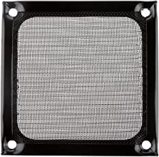 Generic 80mm Aluminum Alloy Stainless Mesh Fan Filter Dust Guard for PC Case Fan Black