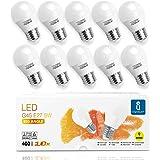 Ampoule LED E27 5W, Blanc Chaud 3000K, 400 Lumen, Type Globe G45, Non Dimmable - Lot de 10