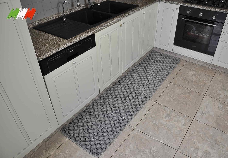 Silver tappeto cucina largo 50 cm. [var. 2] [250 cm.]: amazon.it ...