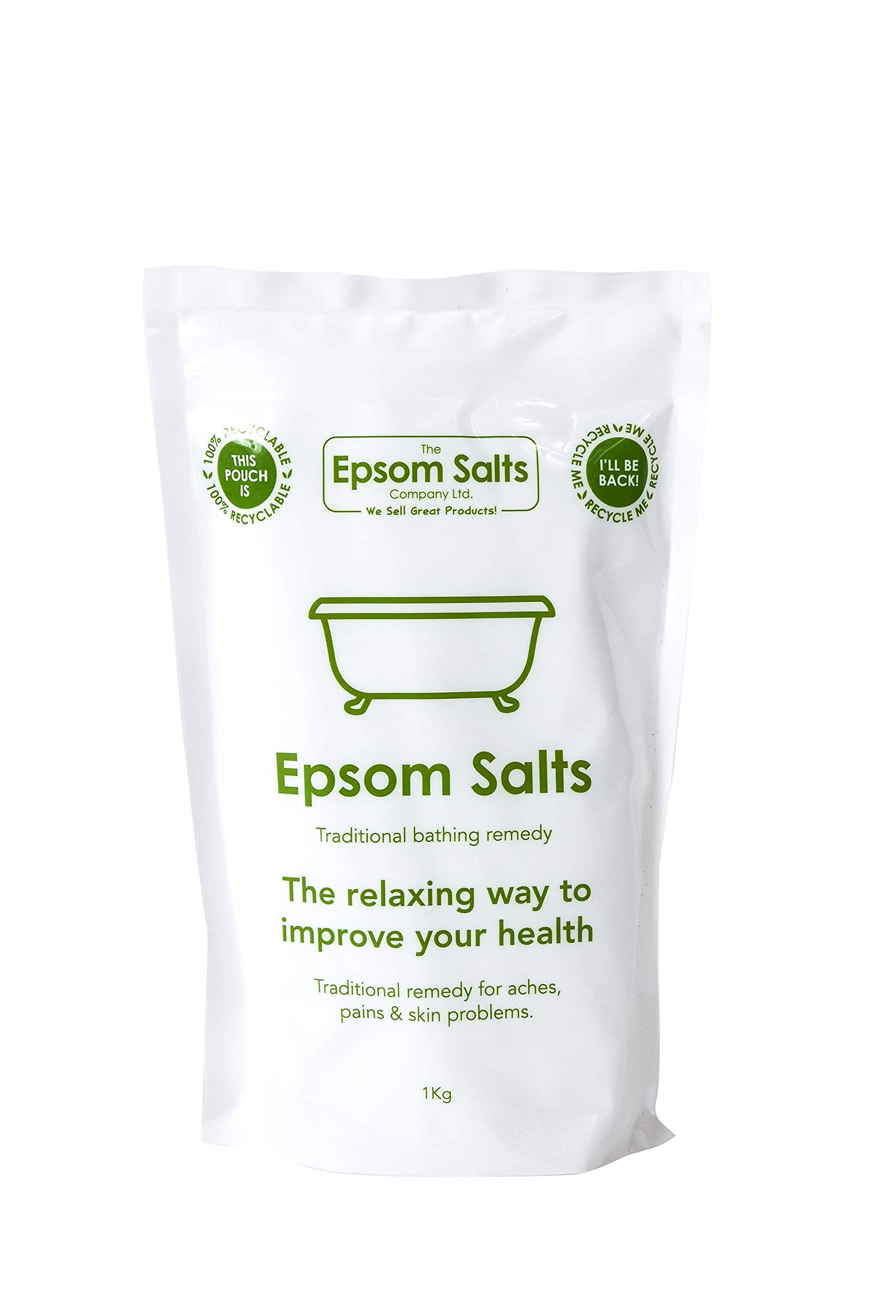Epsom Salts Medical Grade Resealable Pack, 1 kg