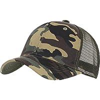 Camouflage Baseball Cap Sun Protection Breathable Half Mesh Snapback Caps Adjustable Outdoor Sports Trucker Sunhats…