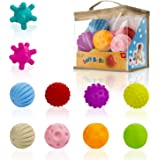 Comius Sharp 10 Pieza Bolas Sensoriales para Bebés Soft Hand Ball Grip Ball Sensor Ball Set Textured Multi Ball Set, Infantil